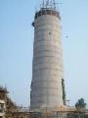 130米水泥烟囱新建