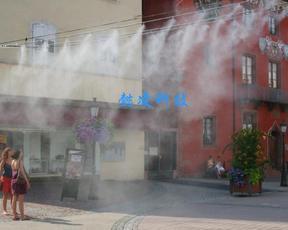 户外降温园林小区上海公园景观喷雾降温加湿器高压微雾