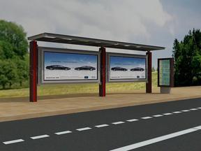 热烈庆祝我司长沙公交候车亭项目签约成功,湖南不锈钢候车亭工程