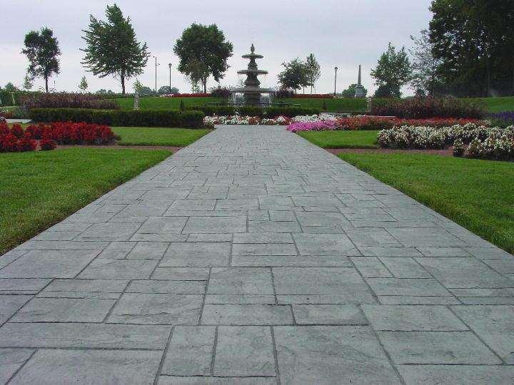 湖北压印景观地坪 印模广场地面 压花地坪厂家