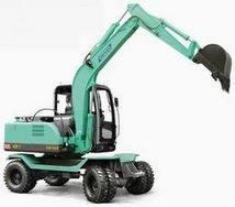 小轮式挖掘机