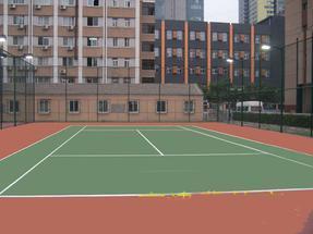 呼和浩特塑胶网球场施工
