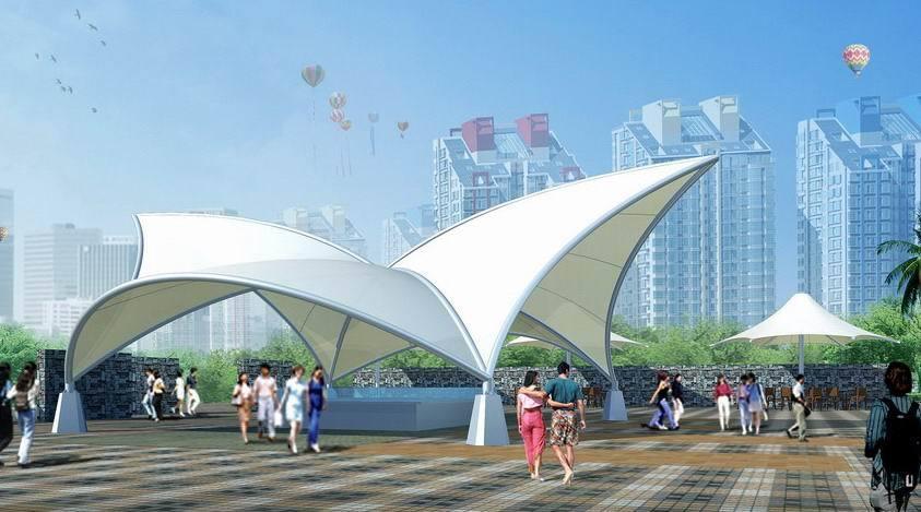 广场 遮阳 膜结构