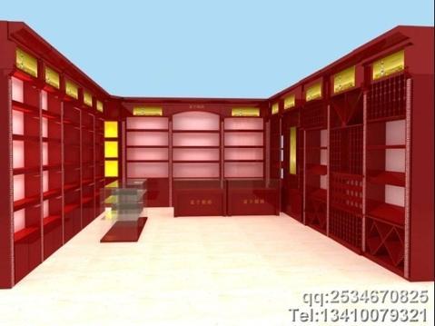 烟酒展柜设计 香烟展柜制作