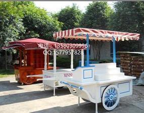 楚工专业生产各式售货花车,木质售货车