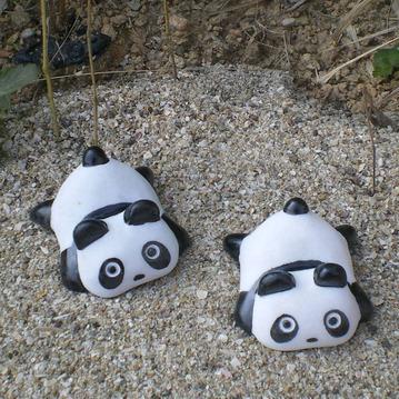小熊猫雕刻宠物石gab520