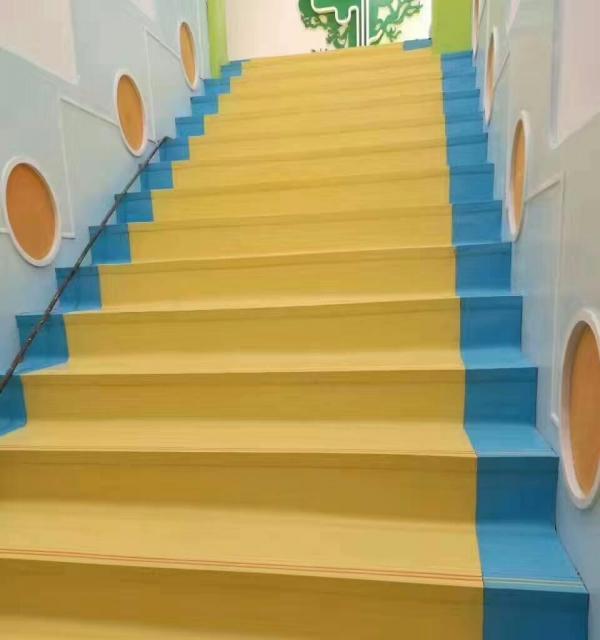 正蓝地板 楼梯踏步,彩色卡通楼梯,塑胶楼梯,pvc