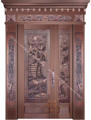 铜门厂|别墅铜门|酒店玻璃铜门