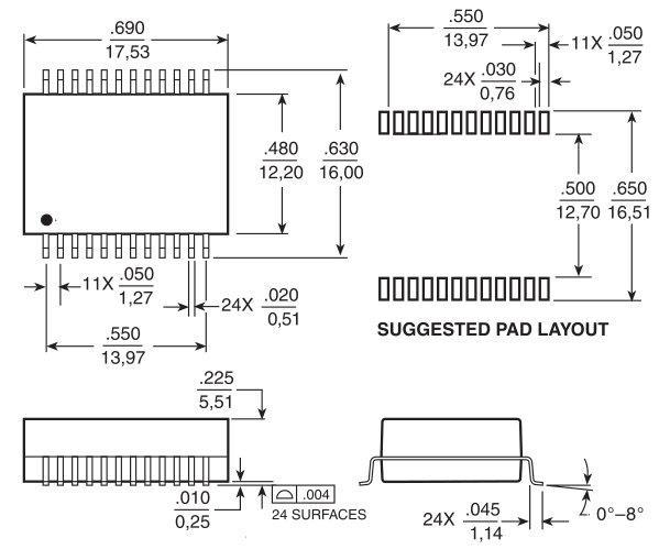 hx5004nl千兆单口网络变压器