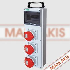 曼奈柯斯工业插座箱 塑料组合箱来样定做厂家批发价