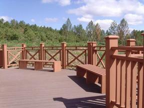 环保户外塑木 木塑地板护栏