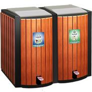 钢木清洁箱|钢木垃圾桶|钢木分类垃圾桶