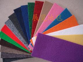 展览会展馆通道红色展览地毯庆典地毯墙毯平面条纹无纺布地毯