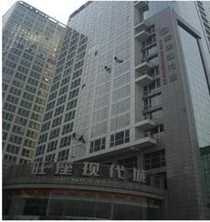 漳州大厦玻璃幕墙清洗