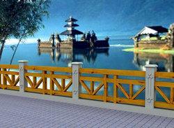 铸造石护栏,仿石护栏,河道栏杆