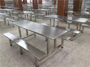 不锈钢餐桌椅,广东鸿美佳厂家定制不锈钢餐桌椅