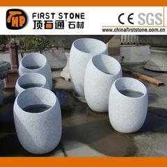 灰色花岗岩圆形花盆GGV288