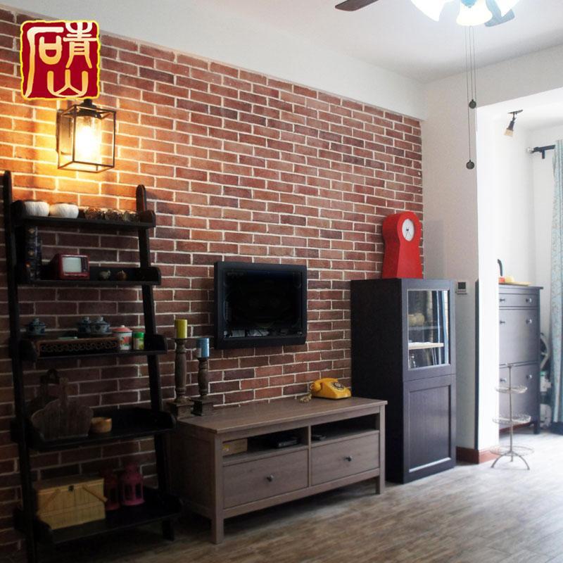 人造文化石 红砖电视背景墙