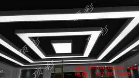 软膜天花吊顶厂家造型独特防水防火拉展天花吊顶