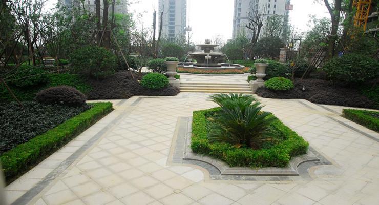 欧式别墅庭院景观铺装