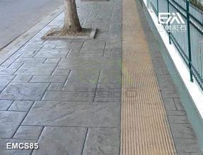 彩色仿木地面艺术地坪水泥仿石地坪模具