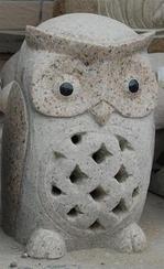 黄色花岗岩小鸟雕刻 GAB486