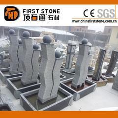 深灰色花岗岩喷泉流水石GAF326