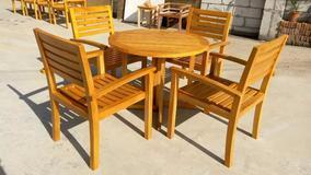 广州易居路易舒豪.LOUISUHO批发户外休闲套椅实木家具咖啡厅休闲桌椅餐厅实木桌椅