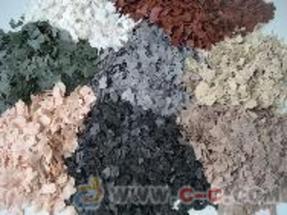 供应彩丽士高端圆石彩色复合岩片
