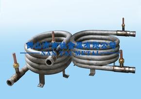 高效钛螺纹同轴套管换热器