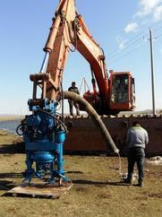 挖机配套全液压驱动河道清淤泵