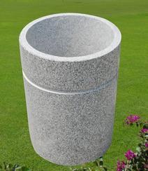 石制垃圾桶/白色花岗岩垃圾桶 GGV261