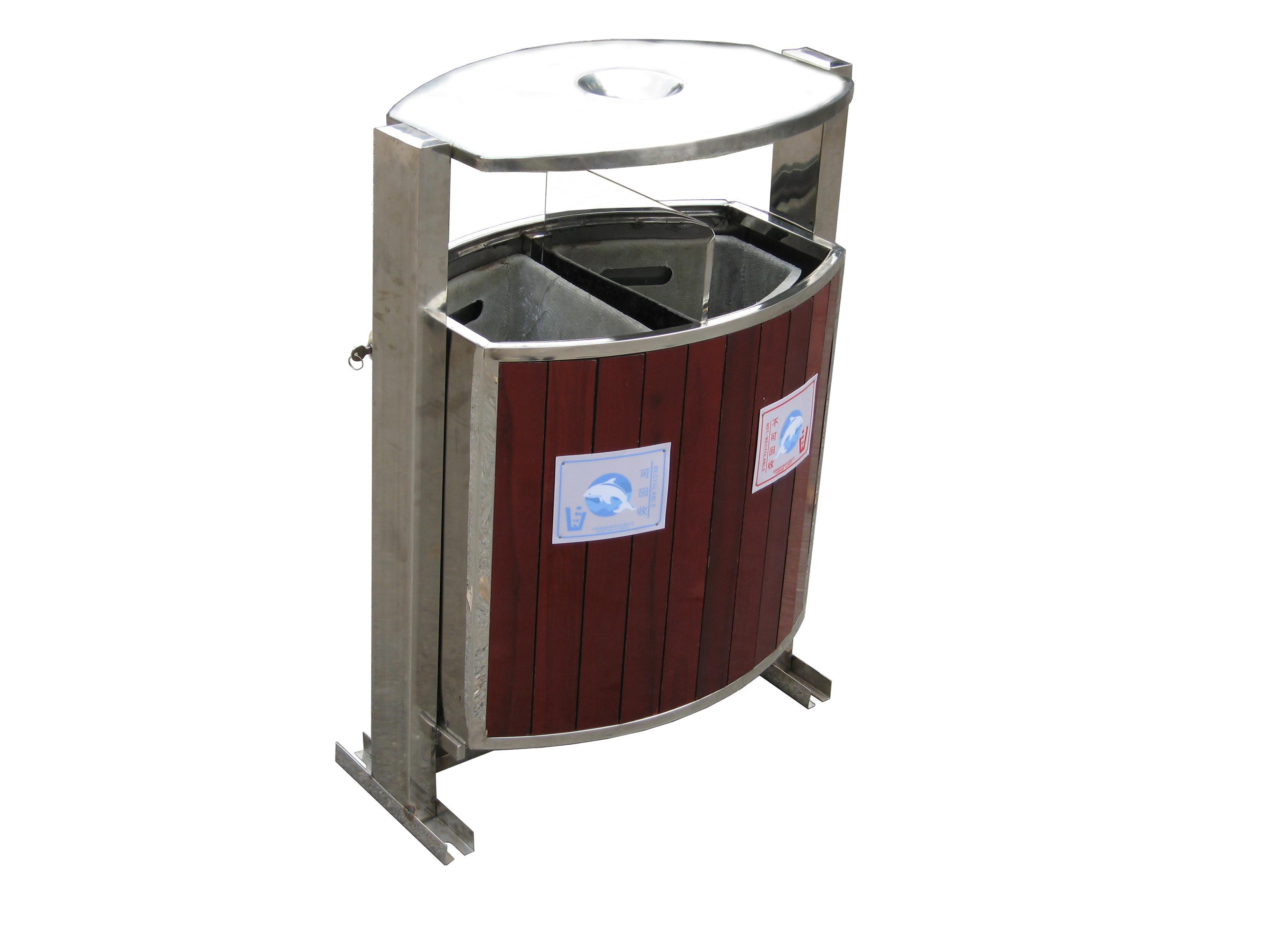钢木垃圾桶,塑料垃圾桶;