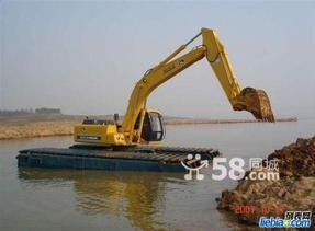 内蒙古包头市出租改装水路两栖挖掘机