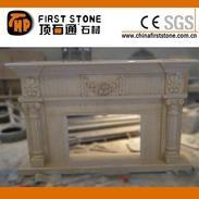 米黄色人造大理石壁炉MFI187