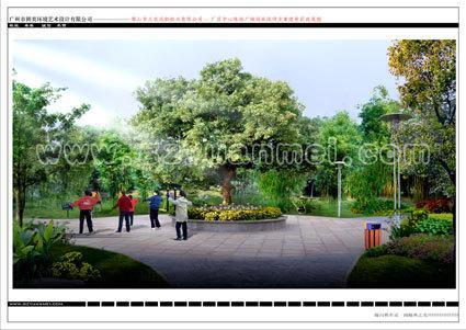 凤铝休闲广场绿化设计
