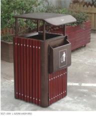 钢木清洁箱/钢木垃圾箱/钢木分类垃圾桶SQ7-009