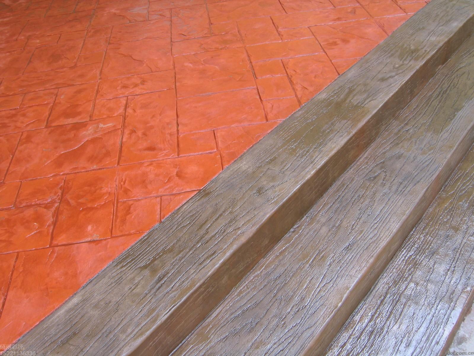 上海彩色压模地坪施工步骤