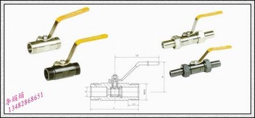 q21f-16c/p广式外螺纹球阀图片