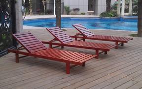 户外木制沙滩椅