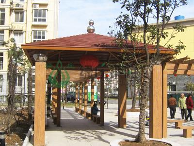 仿木亭,仿木花架,亭棚廊架,小区绿化,园林景观
