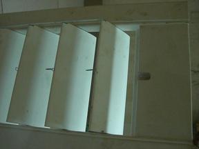 供应实木百叶门窗暗藏式铝合金拉杆