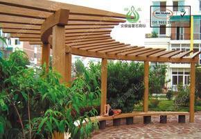 花架,仿木花架,亭廊棚架,仿木小品,园林设施,绿化景观