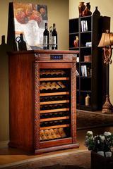 美式仿古实木恒温酒柜