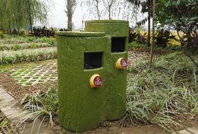 通联仿木垃圾桶