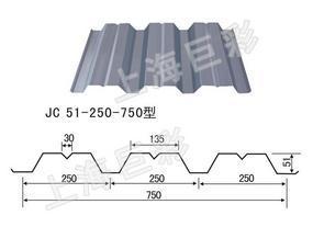 YX51-250-750开口楼承板规格技术参数价格-上海巨彩压型钢板厂