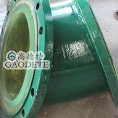 新疆地区输油用钢衬聚氨酯七通管件