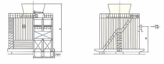 厂价直销逆流式冷却塔