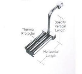 广州翰运供应化学镀镍溶液专用L型三管金属加热器