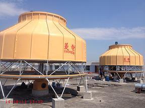 玻璃钢500吨逆流式圆形冷却塔